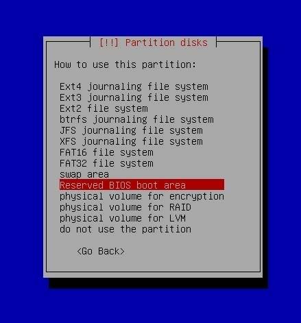 EFI BIOS Partition